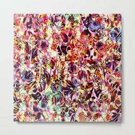 joyful abstract floral Metal Print