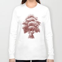 thrones Long Sleeve T-shirts featuring Old Growth  by Terry Fan