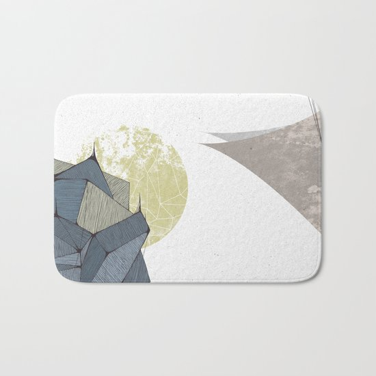 The Rock of Humanity Bath Mat