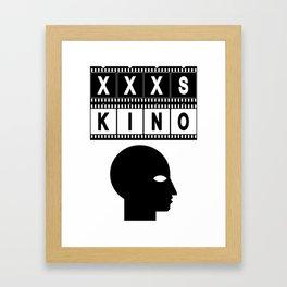 XXXS KINO HEAD FILMSTRIP Framed Art Print