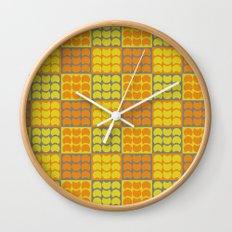 Hob Nob Orange Quarters Wall Clock