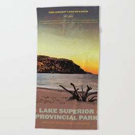 Lake Superior Provincial Park Beach Towel