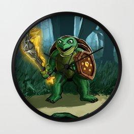 Turtle Paladin Wall Clock