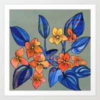 Goosefoot Violets Art Print