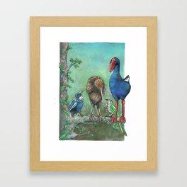 The legend of the Kiwi, illustration, Maori tale, New Zealand Framed Art Print