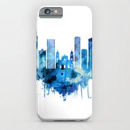Bogota Colombia Skyline Blue iPhone Case