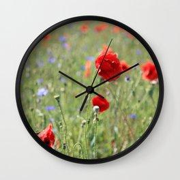 poppy flower no8 Wall Clock