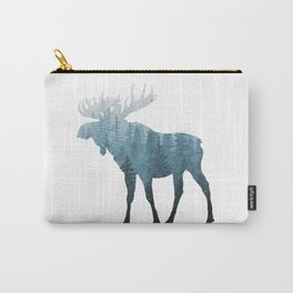 Misty Forest Moose Carry-All Pouch