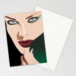 GIRL MAKE UP Stationery Cards
