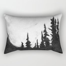 Full Moon & Trees Rectangular Pillow