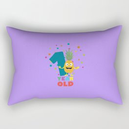 One Year old first Birthday Party T-Shirt Dpuo7 Rectangular Pillow