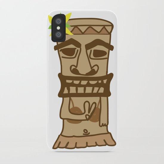 Hippie Island Tiki Dude iPhone Case