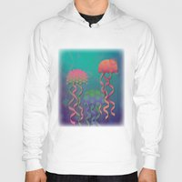 polka dot Hoodies featuring Polka Dot Jellyfish by Graphic Tabby