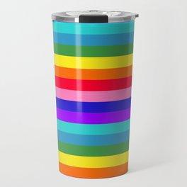 Stripes of Rainbow Colors Travel Mug