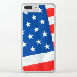 American Flag 3 Clear iPhone Case