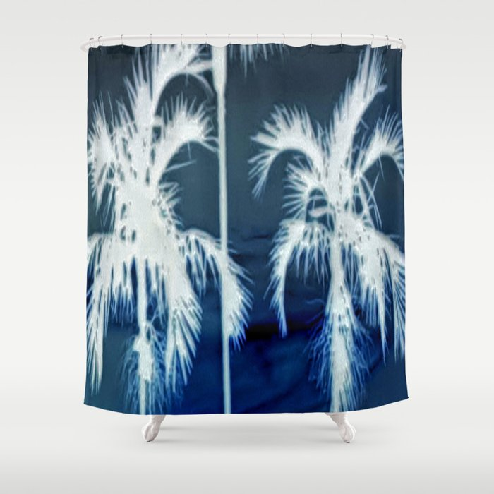 White Palms Over Lauderdale Shower Curtain