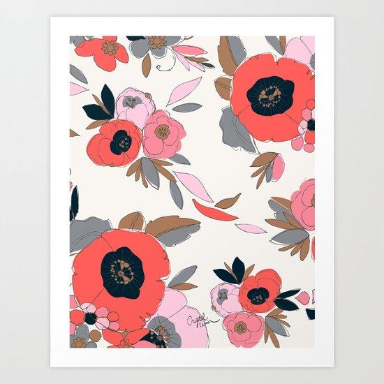 Dakota Floral Art Print