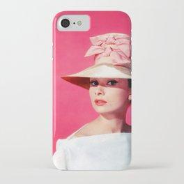 Audrey Hepburn Pink Version - for iphone iPhone Case