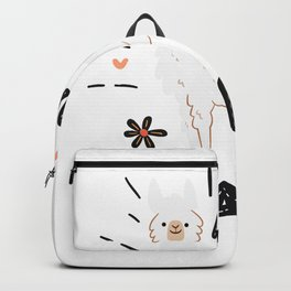 Mama Funny Llama Mother's Day Gift Backpack