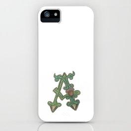 A is for Acorn iPhone Case
