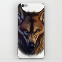 bad wolf iPhone & iPod Skins featuring Bad Wolf by Melantic Art & Illustration