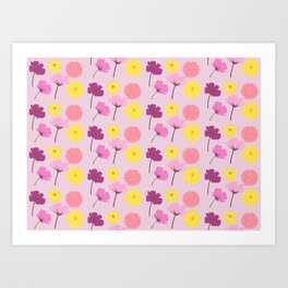 Pressed Flowers Art Print