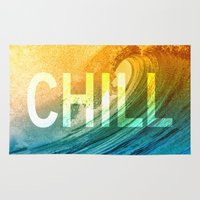 chill Area & Throw Rugs featuring Chill by SURFskate