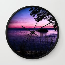 Gloaming at Deception Pass Wall Clock