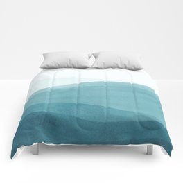 Watercolor Sea   Dip Dye Blues Comforters
