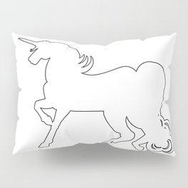 White Unicorn Silhouette Pillow Sham
