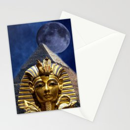 King Tut and Pyramid Stationery Cards
