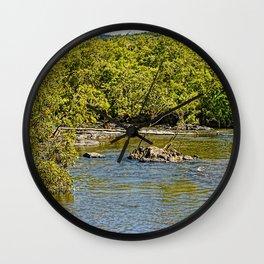 Beautiful river in the tropics Wall Clock