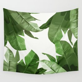 Tropical Palm Print Treetop Greenery Wall Tapestry