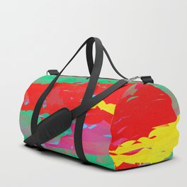 Abstract Paint Gradient Duffle Bag