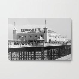 Brighton Pier, England Metal Print