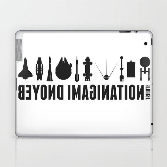 Beyond imagination: USS Enterprise postage stamp  Laptop & iPad Skin