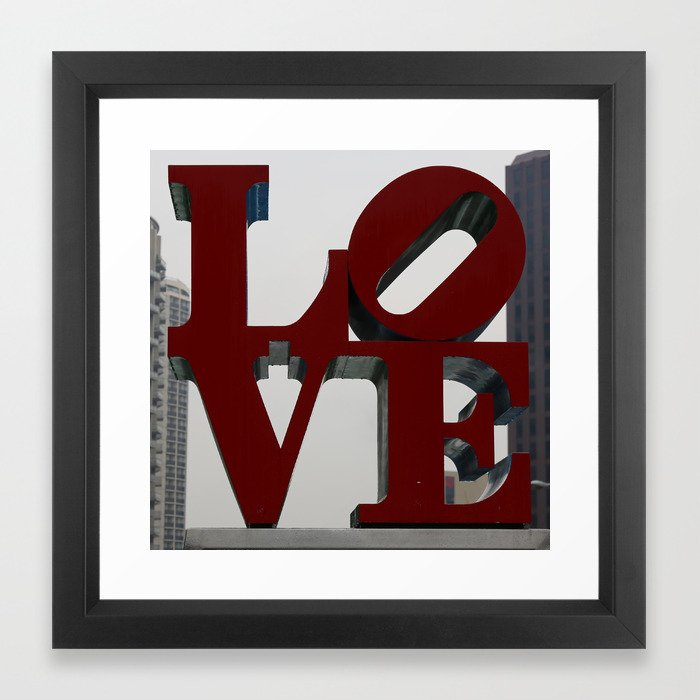 Love Philadelphia Sculpture Framed Art Print - sold twice, with black and white frame