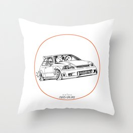 Crazy Car Art 0217 Throw Pillow
