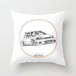 Crazy Car Art 0217 Throw Pillow