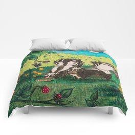 Skunk Picnic Comforters