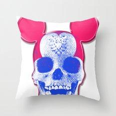 Mickey Mouse Skullface (aka Norman Bates' Dad) Throw Pillow