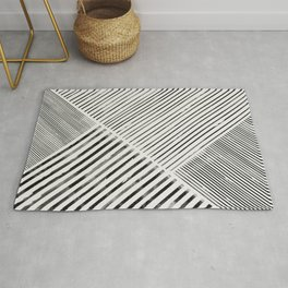 Black and White Stripes, Abstract Rug