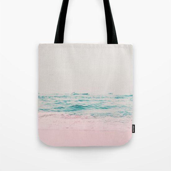 Vintage Pastel Ocean Waves Tote Bag