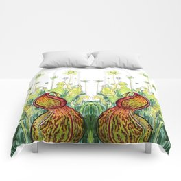 Pitcher Plants Comforters