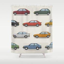 Ford Escort Mk3 XR3i - Car Print Shower Curtain