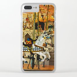 Carousel Magic - Merry-go-Round Clear iPhone Case