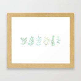 For the love of green Framed Art Print