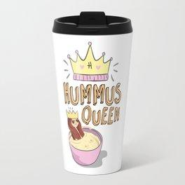 Hummus Queen, Vegan Art, Travel Mug