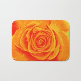 Orange Rose Bath Mat
