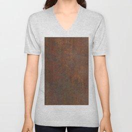 Rust Unisex V-Neck